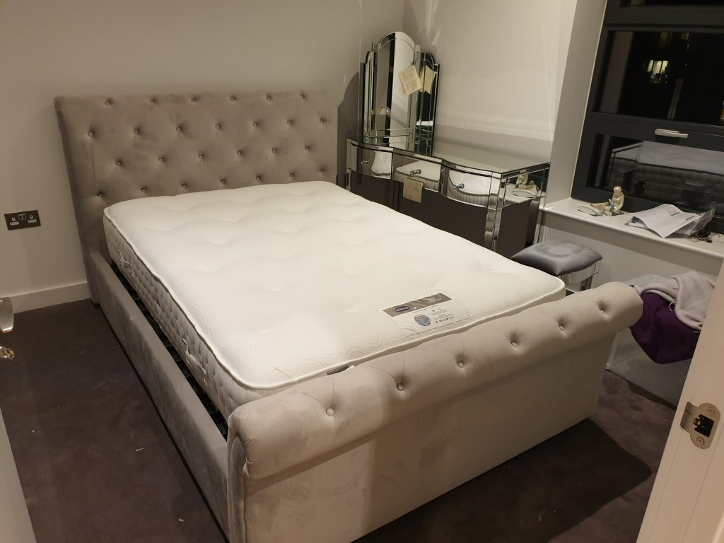 Ottoman bed, dresser, stool from Argos